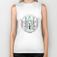 tim burton Biker Tanks featuring Beetle Juice [Betelgeuse, Michael Keaton, Tim Burton] by Vyles