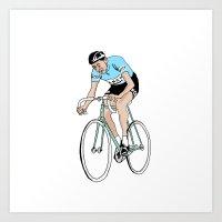 Coppi on Track Art Print