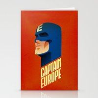 europe Stationery Cards featuring Captain Europe by Robert Farkas
