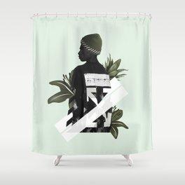 Off-white Mashup Shower Curtain