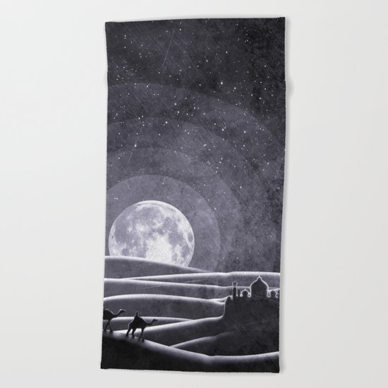 Desert Night Beach Towel