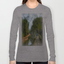 Epic Shot Cycling The Canal Route In Kerala, India Long Sleeve T-shirt