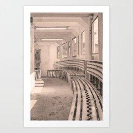 Inside Cowes Floating Bridge In Sepia Art Print