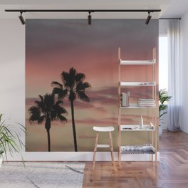 Atmospherics Number 3: Two Palms in the Sunset Wall Mural