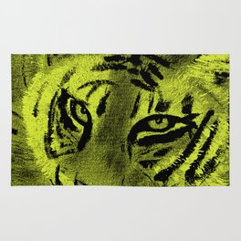 Tiger with Lime Background Rug