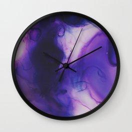Violet Aura Wall Clock