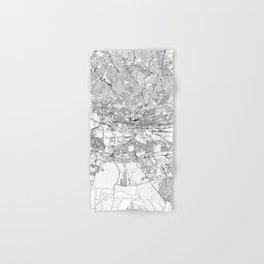 Johannesburg White Map Hand & Bath Towel