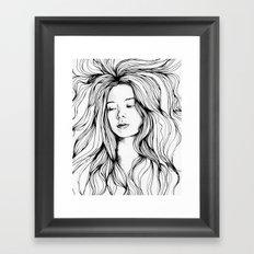 girls in the hair 2 Framed Art Print