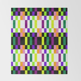 COLORFUL GEOMETRY Throw Blanket