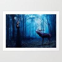 Forest Meeting Fine Art Print Art Print
