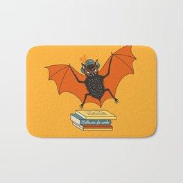 Bat granny book lover Bath Mat