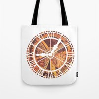 clockwork Tote Bags featuring CLOCKWORK by Stephanie Lue