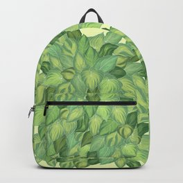 Citric Hostas, leaves arrangement in a tower shape Backpack