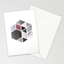 Watercolor Hexagone Stationery Cards