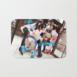 Japanese Cosplay Girls Costume Fantasy Fetish and Desire Bath Mat
