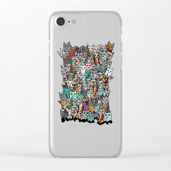 Gemstone Cats Clear iPhone Case