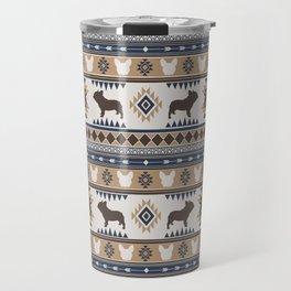 Boho dogs | French bulldog tan Travel Mug
