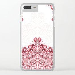 Mandala background Clear iPhone Case
