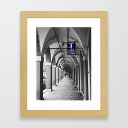 Blue Tabacchi Street Photography in Bologna Framed Art Print