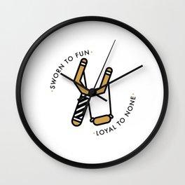 LOYAL TO NONE Wall Clock