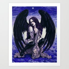 Star Light, Star Bright Sexy Gothic Angel Art Print