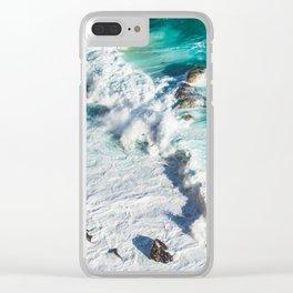 Wave Break - Ocean Shores Clear iPhone Case