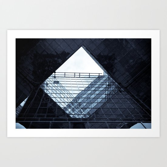 London building abstract  Art Print