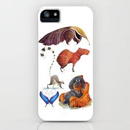 Rainforest animals iPhone Case
