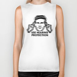 FAC 1 tribute - Factory Records - Use Hearing Protection Biker Tank