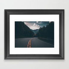 Road #Trees Framed Art Print