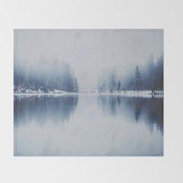 Foggy Winter Throw Blanket