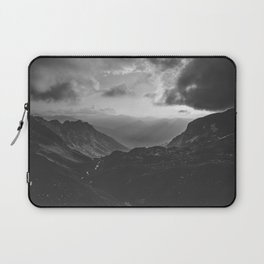 Valley - black and white landscape photography Laptop Sleeve