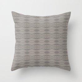 Elegant Gray Geometric Southwestern Pattern - Luxury Fabric - Corbin Henry Throw Pillow