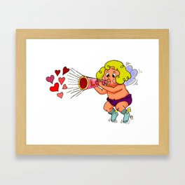 """LOVE - Loud & Clear { Boy Cupid }"" by Jesse Young ILLO Framed Art Print"