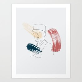De Gaulle Art Print