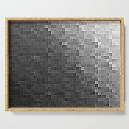 Gray Ombre Pixels Serving Tray