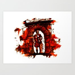 Bloody Titus Andronicus Art Print