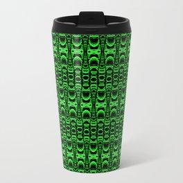 Dividers 07 in Green over Black Travel Mug