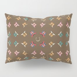 boots all over brown Pillow Sham