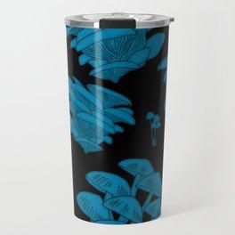 Mushroom Blue Travel Mug