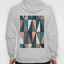 Copper, Marble and Concrete Triangles with Blue Hoody