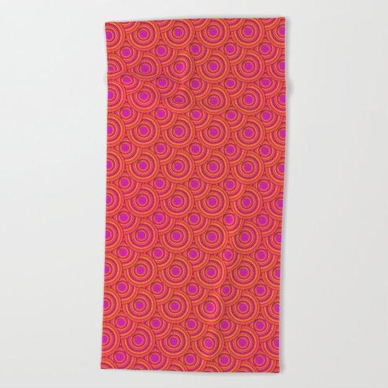 Tropical Parasols Pattern Beach Towel