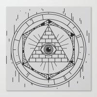 illuminati Canvas Prints featuring Illuminati by Joao Paulo Cruz