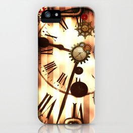 Steampunk, clocks and gears, vintage design iPhone Case