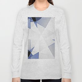 blue background for home decor Long Sleeve T-shirt