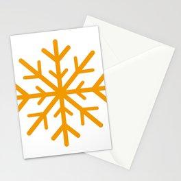 Snowflake (Orange & White) Stationery Cards
