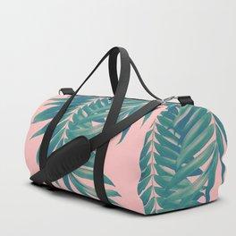 Palm Leaves Blush Summer Vibes #4 #tropical #decor #art #society6 Duffle Bag