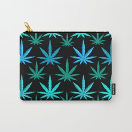 Marijuana Teal Turquoise Weed Carry-All Pouch