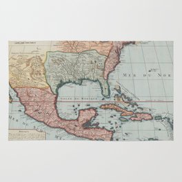 Vintage Map of The Gulf of Mexico (1732) Rug