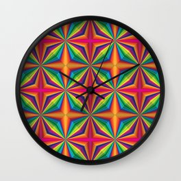 Psychedelic Squares Wall Clock